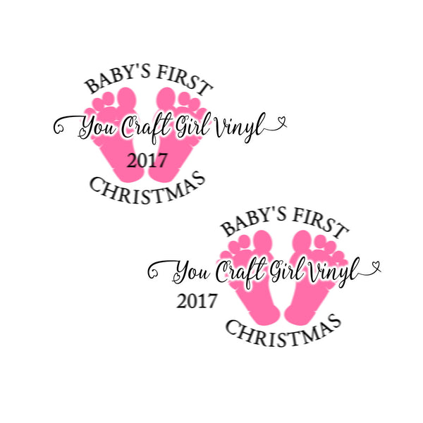 Baby's First Christmas Cut File