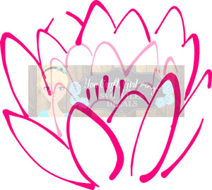 Lotus Flower Svg Dxf Png Pdf Zip File   Commercial Use SVG Digital File car decal   tshirt   home decor   lotus flower decal   flower svg