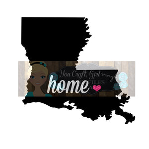 Louisiana Home State Map Cut File