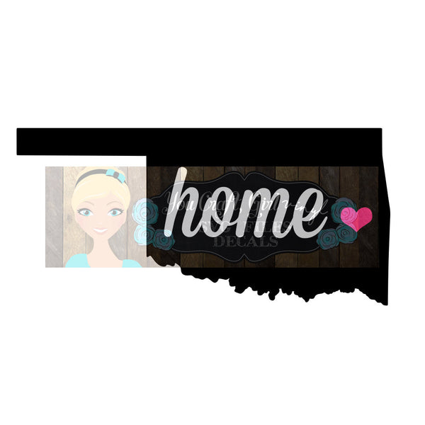 Oklahoma Home State Map Cut File