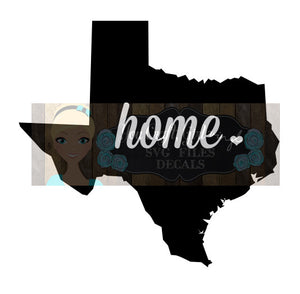 Texas Home State Map Cut File