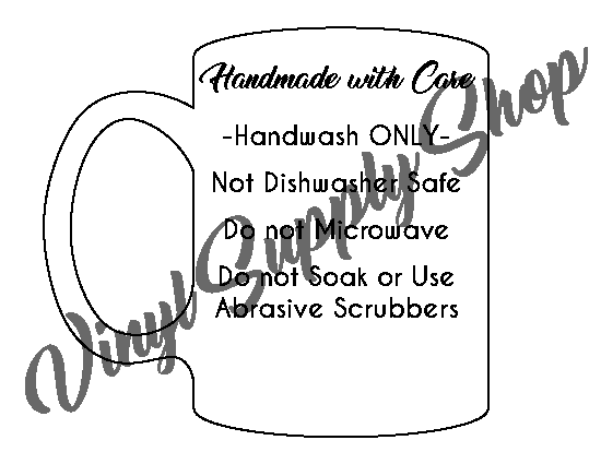 Add Your Business Name Mug Care Tag *Printable*