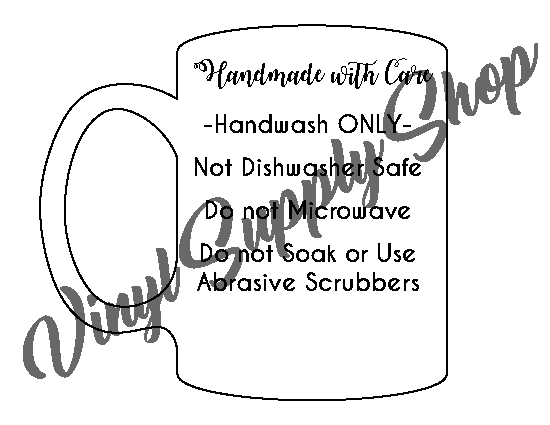 Add Your Business Name Mug Care Tag 2 *Printable*