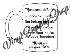 Copy of Mug Care Tag 2 *Printable*