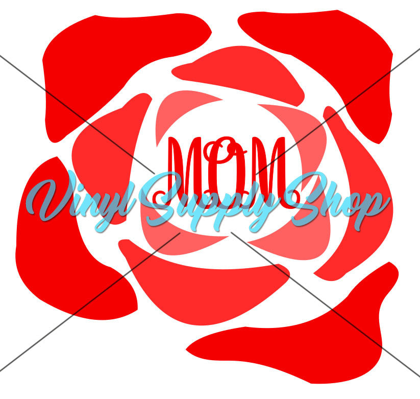 Rose for Mom Cut File