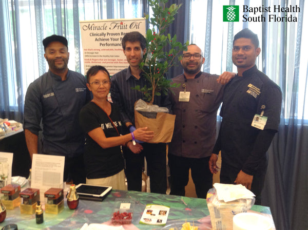 Miracle Fruit Oil Donates Miracle Fruit Tree to the Healing Garden to treat Cancer Patients at Baptist Hospital