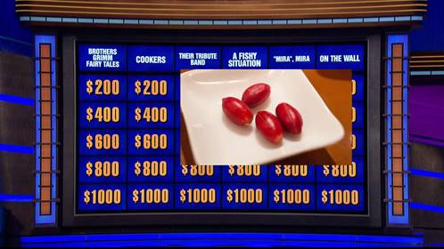 Jeopardy 2020 Miracle Fruit