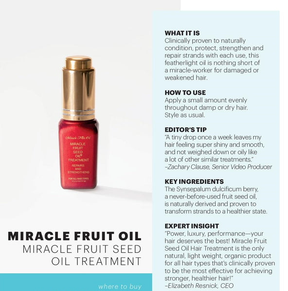 Miracle Fruit Oil Fact Sheet