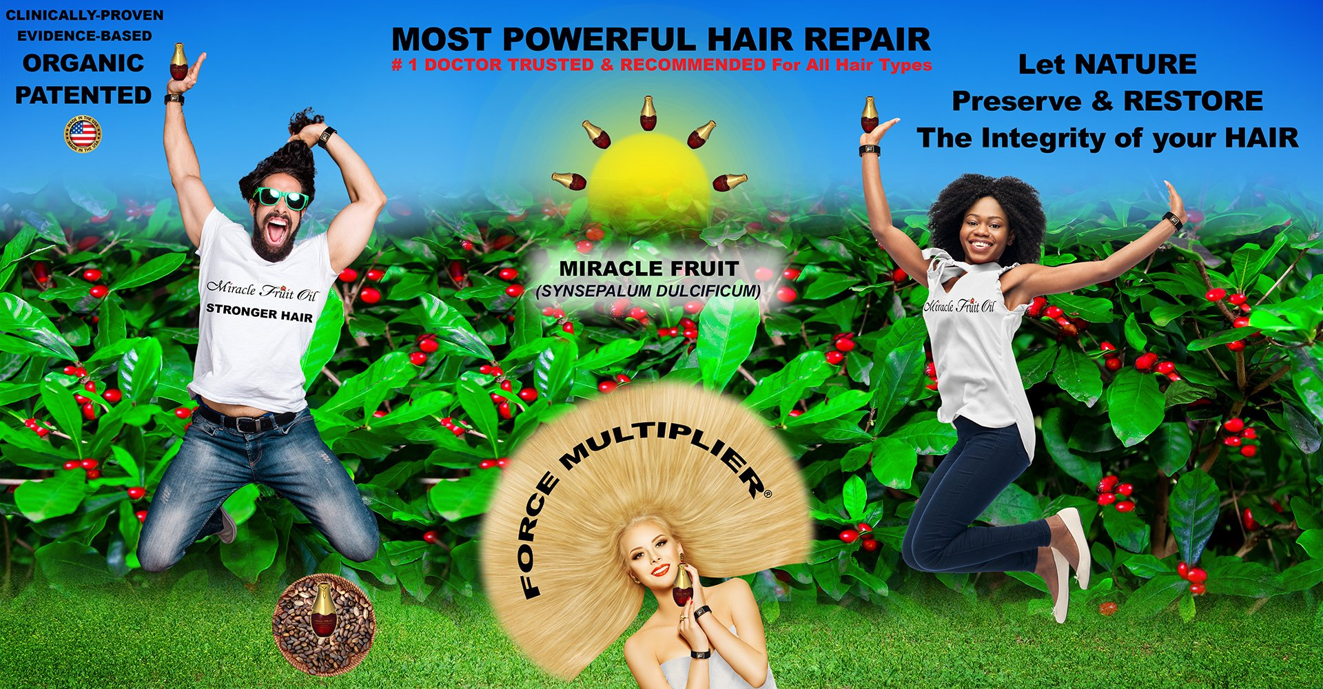 Miracle Fruit Seed Oil Treatment and Vitabrace Wristband