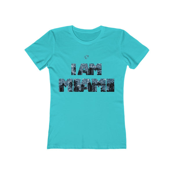 I am Miami Ladies Tahiti Blue T-Shirt