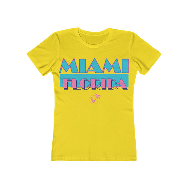 Miami Vice Ladies Yellow T-Shirt