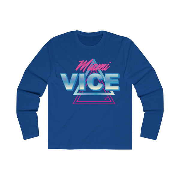 Welcome to Miami Vice Long Sleeve Royal Blue T-Shirt