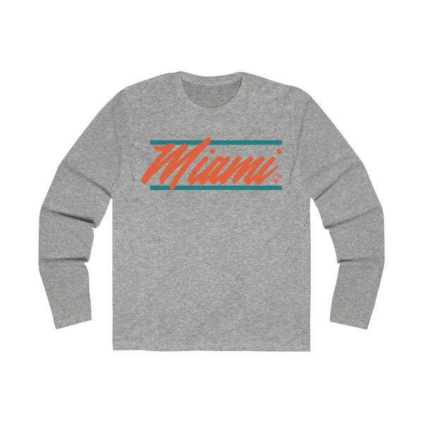 U are Miami Long Sleeve Grey T-Shirt
