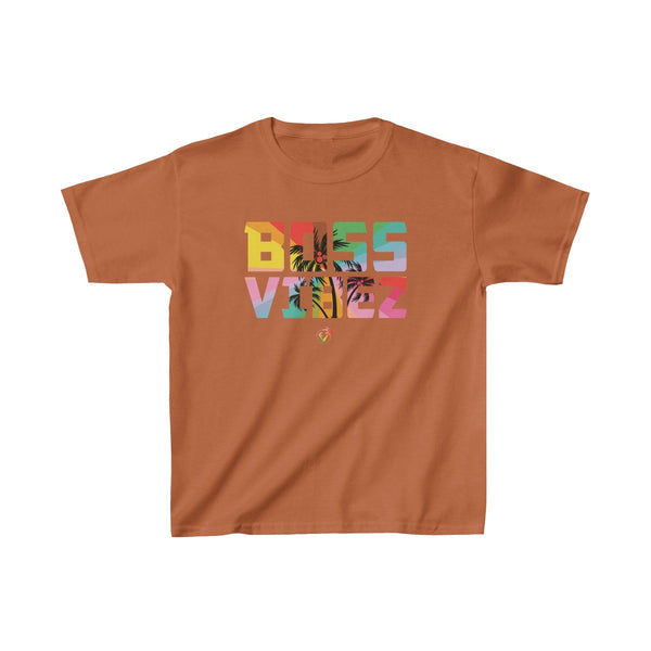 Boss Vibez Kids Orange T-Shirt