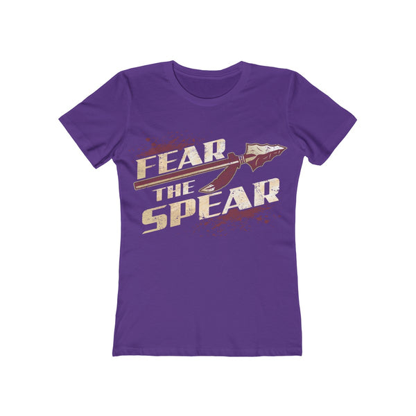Fear The Spear Ladies Purple T-Shirt