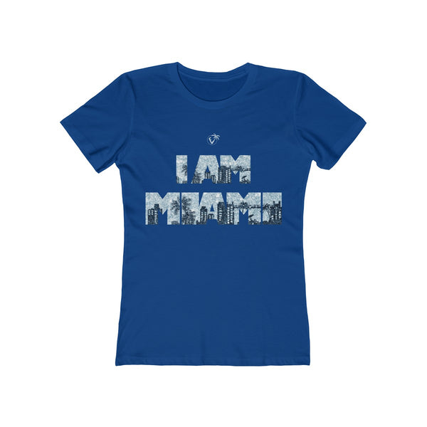 I am Miami Ladies Royal Blue T-Shirt