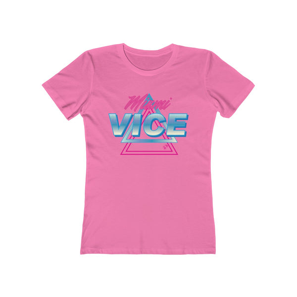 Welcome to Miami Vice Ladies Hot Pink T-Shirt
