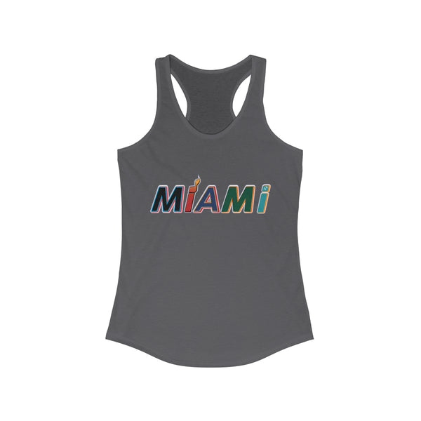New Era Dark Gray Ladies Tank Tops
