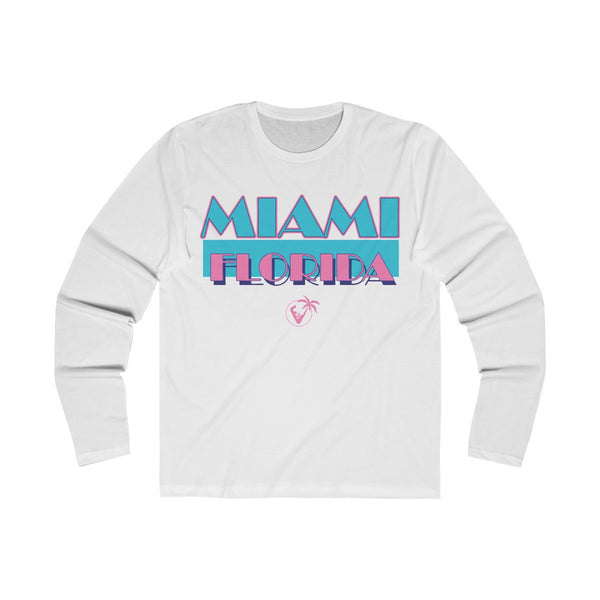 Miami Vice Long Sleeve White T-Shirt