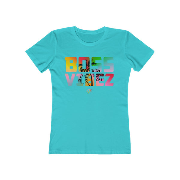 Boss Vibez Ladies Tahiti Blue T-Shirt