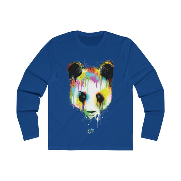 Panda Vibez Long Sleeve Royal Blue T-Shirt