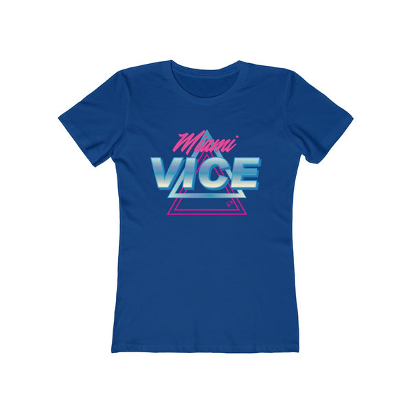 Welcome to Miami Vice Ladies Royal Blue T-Shirt