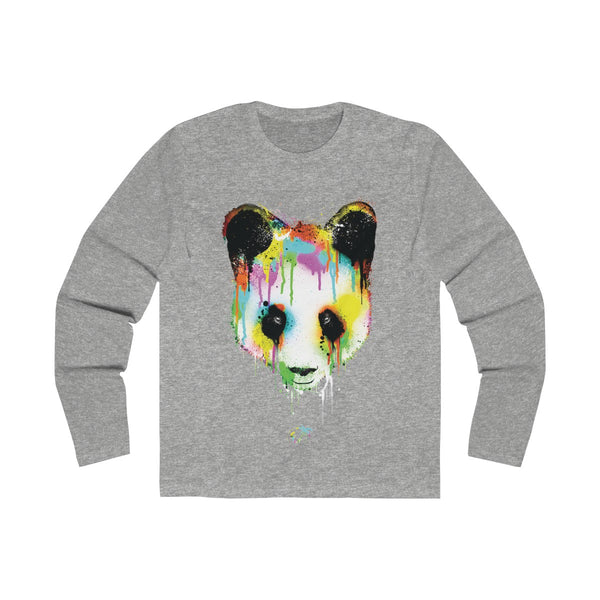 Panda Vibez Long Sleeve Grey T-Shirt