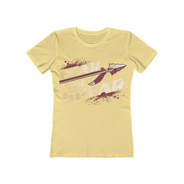 Fear The Spear Ladies Banana Cream T-Shirt