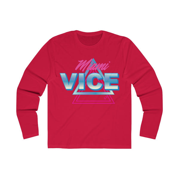 Welcome to Miami Vice Long Sleeve Red T-Shirt