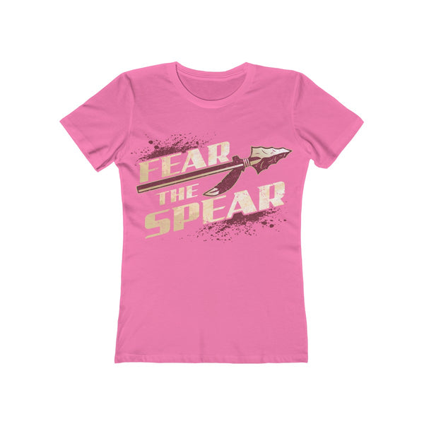 Fear The Spear Ladies Hot Pink T-Shirt