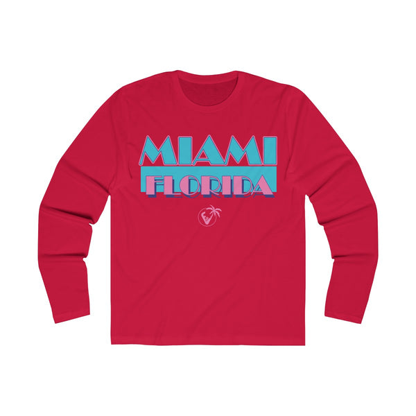 Miami Vice Long Sleeve Red T-Shirt