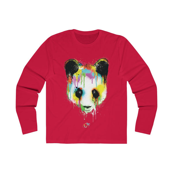 Panda Vibez Long Sleeve Red T-Shirt