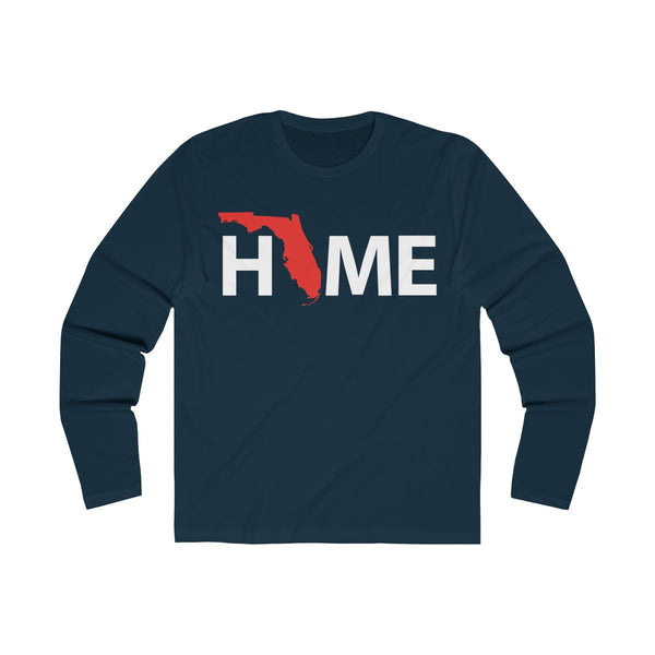 Home Long Sleeve Navy Blue T-Shirt
