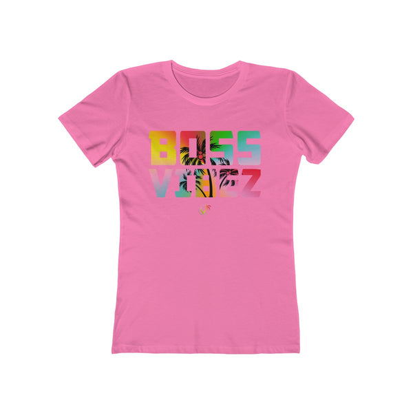 Boss Vibez Ladies Hot Pink T-Shirt