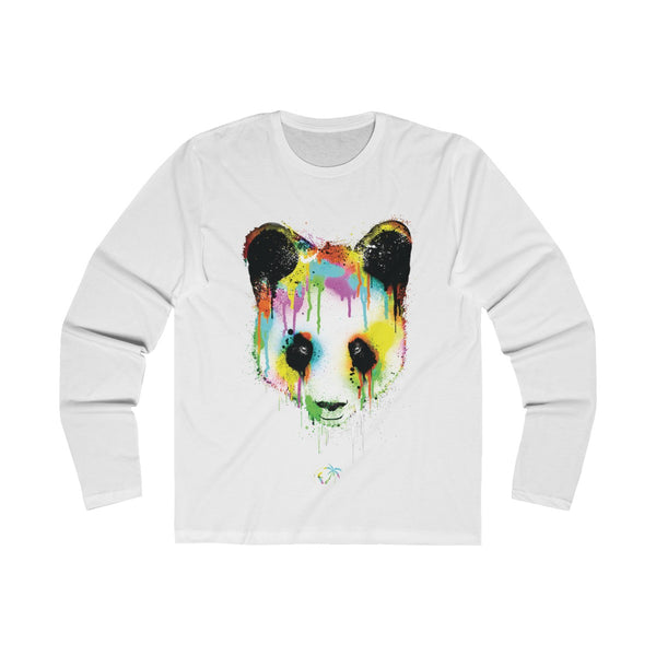 Panda Vibez Long Sleeve White T-Shirt