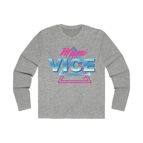 Welcome to Miami Vice Long Sleeve Grey T-Shirt