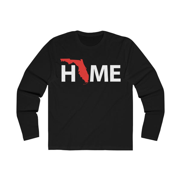 Home Long Sleeve Black T-Shirt