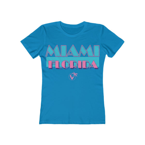 Miami Vice Ladies Turquoise T-Shirt