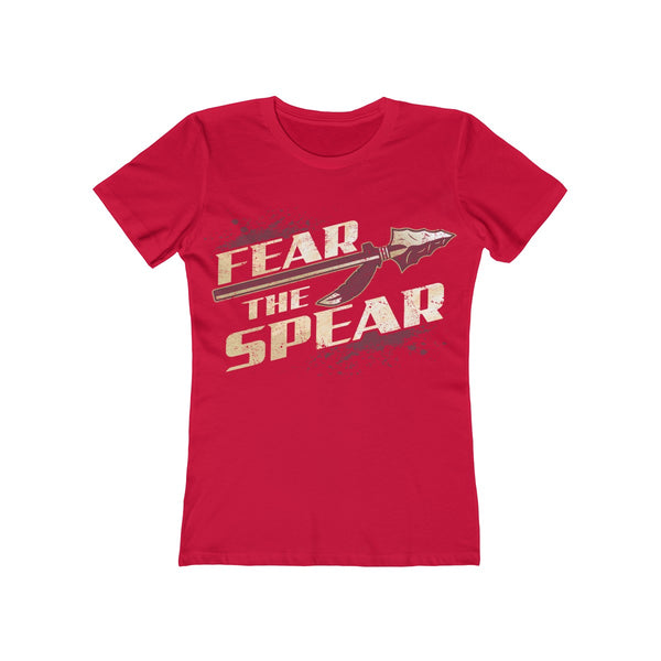 Fear The Spear Ladies Red T-Shirt