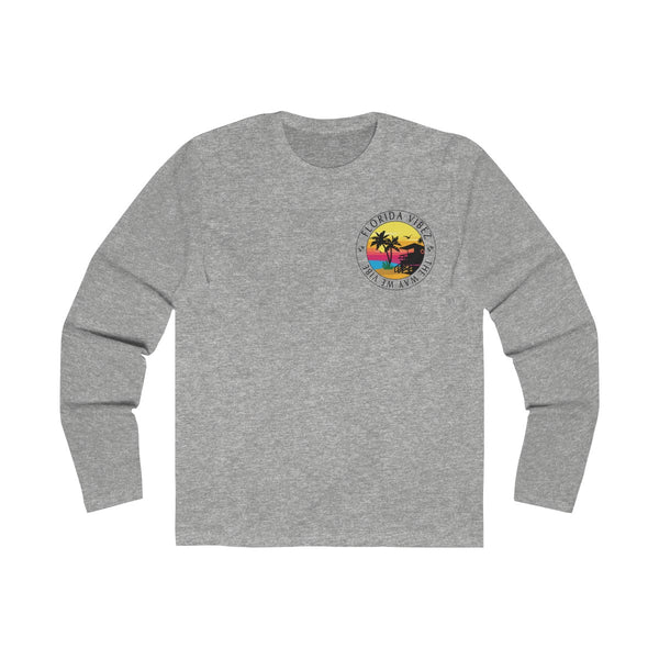 The Way We Vibe Long Sleeve Grey T-Shirt