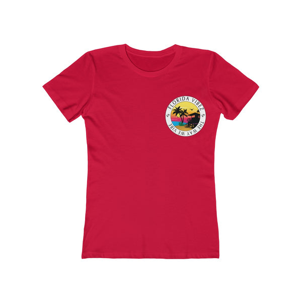 The Way We Vibe Ladies Red T-Shirt