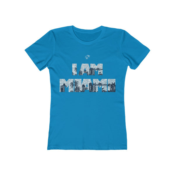 I am Miami Ladies Turquoise T-Shirt