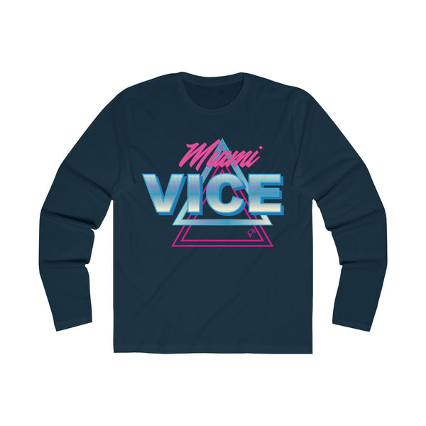 Welcome to Miami Vice Long Sleeve Navy T-Shirt