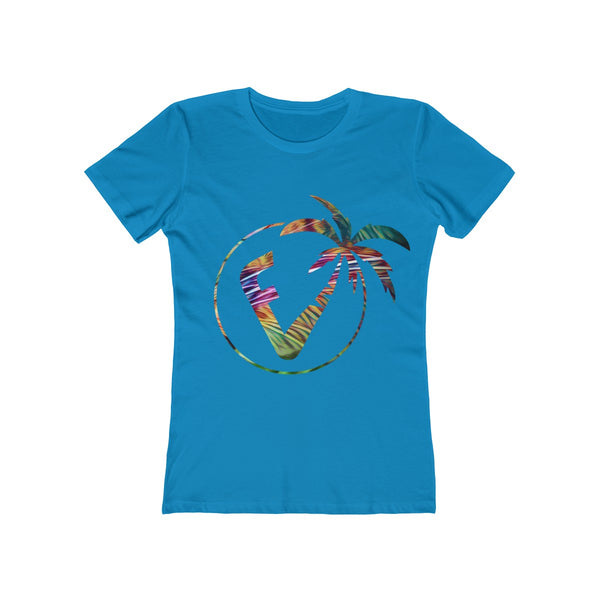 Exotic Vibez Ladies Turquoise T-Shirt