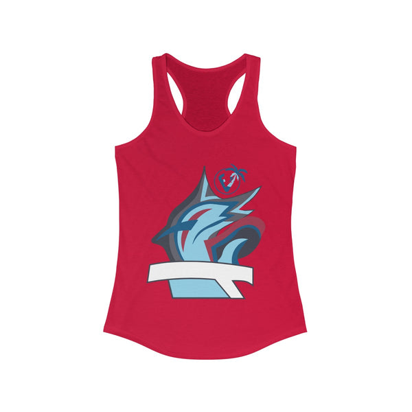 Marlin Vibez Red Ladies Tank Tops