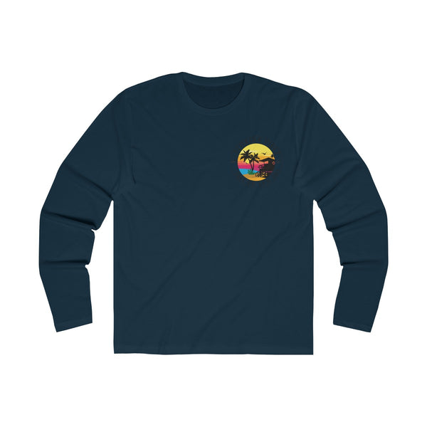 The Way We Vibe Long Sleeve Navy Blue T-Shirt