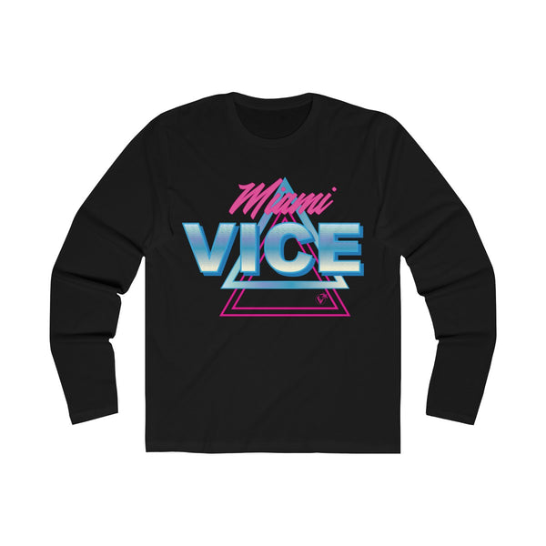Welcome to Miami Vice Long Sleeve Black T-Shirt