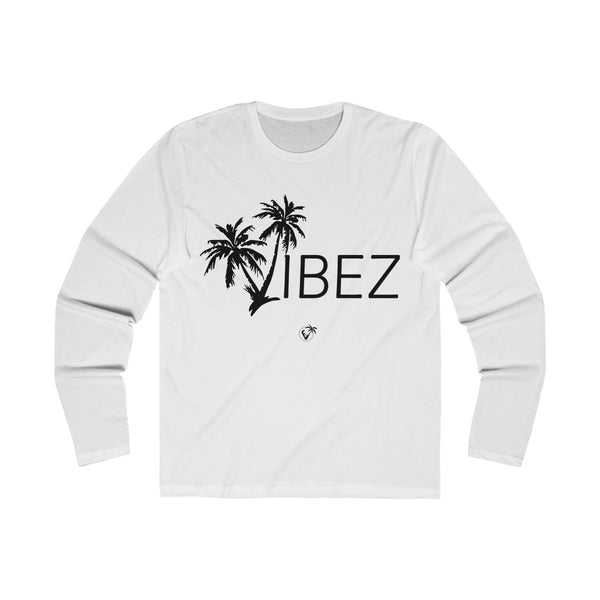 V.I.B.E.Z  Long Sleeve White T-Shirt