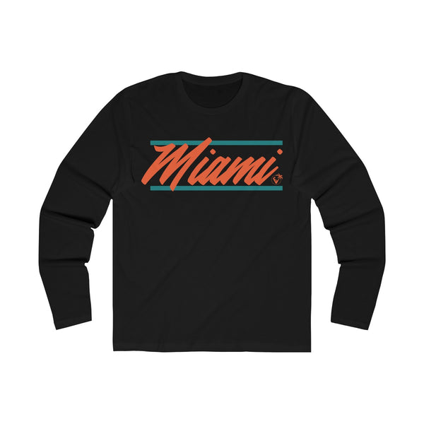 U are Miami Long Sleeve Black T-Shirt