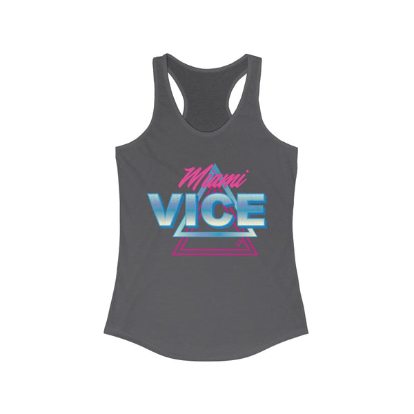 Welcome To Miami Vice Gray Ladies Tank Tops